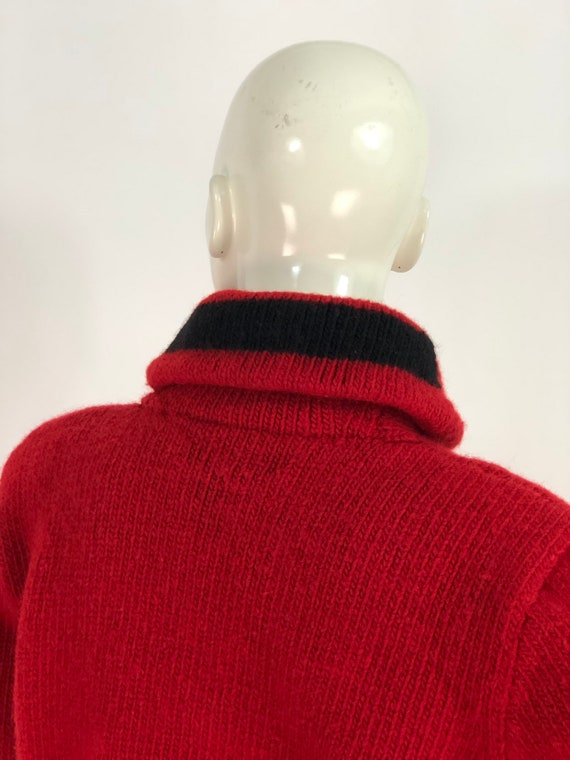 Vintage polo sweater/polo hand knit/polo 100% woo… - image 8