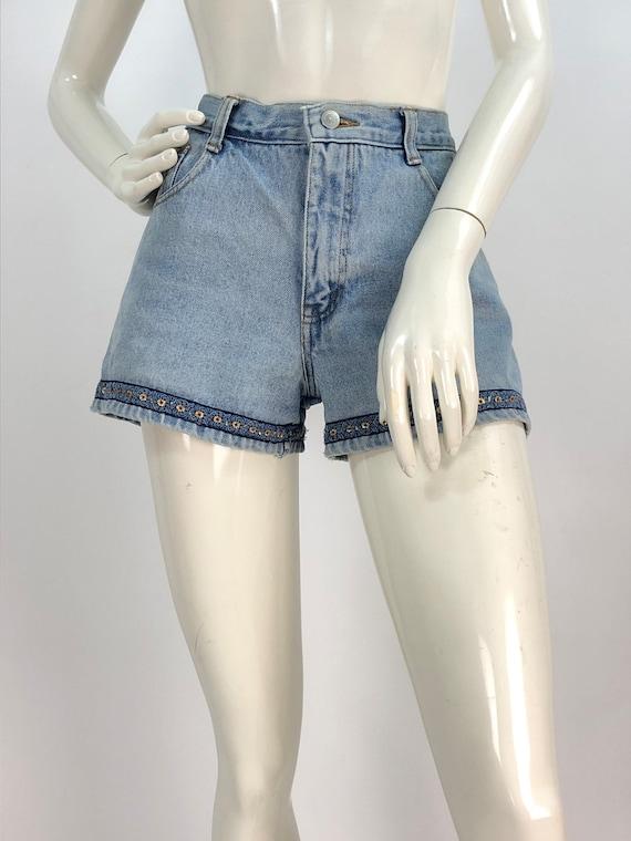 90s jean shorts/1990s denim shorts/vintage jean sh