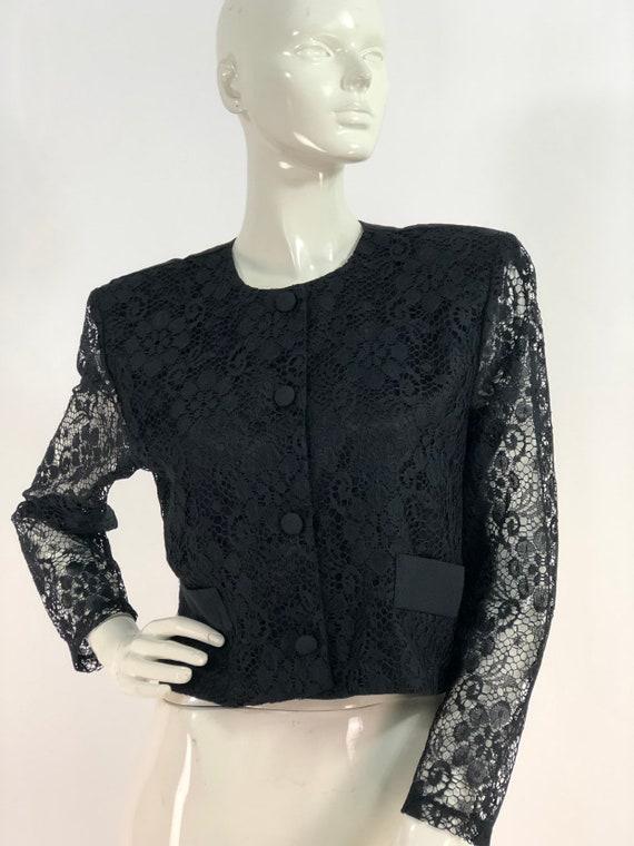 80s shoulder pads/1980s lace blazer