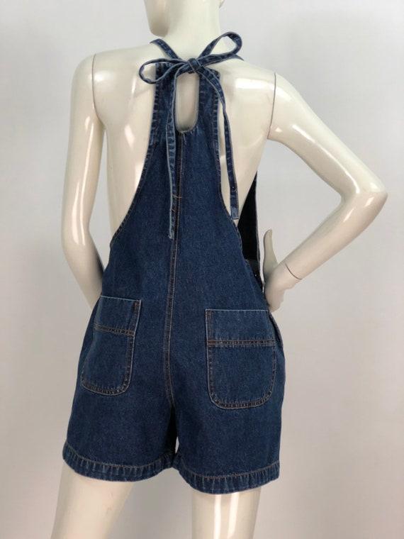 1990s denim overalls/90s jean overalls/90s short … - image 8