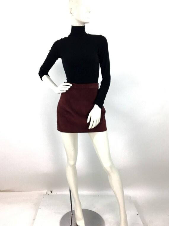 80s suede mini skirt/vintage mini skirt - image 4