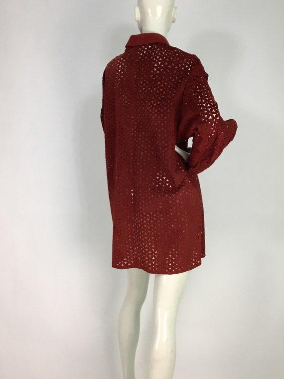 Vintage danier leather/leather cut out shirt/leat… - image 4