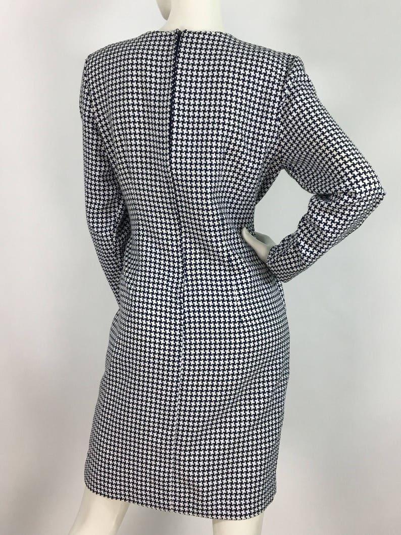 80s Algo dresshoundstooth plaid dress