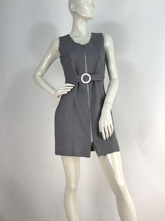 90s mini dress/checkered mini dress/vintage dress