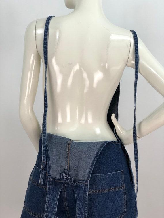 1990s denim overalls/90s jean overalls/90s short … - image 6