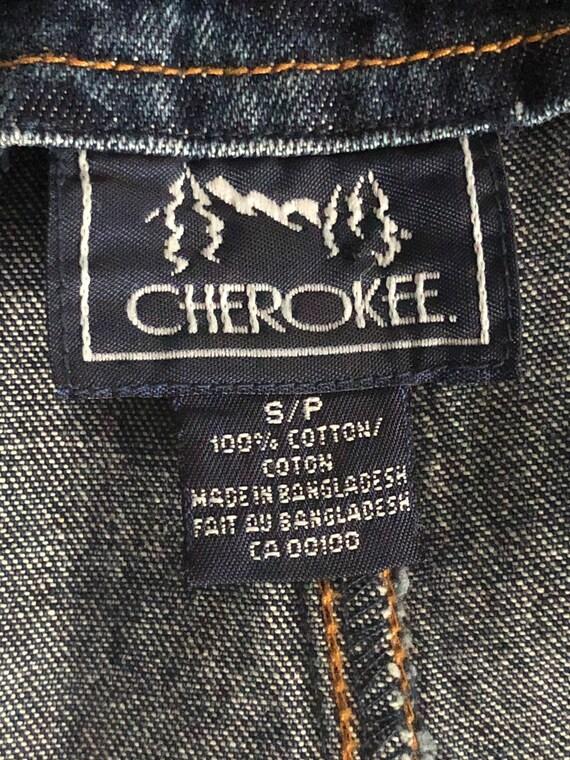1990s denim overalls/90s jean overalls/90s short … - image 10