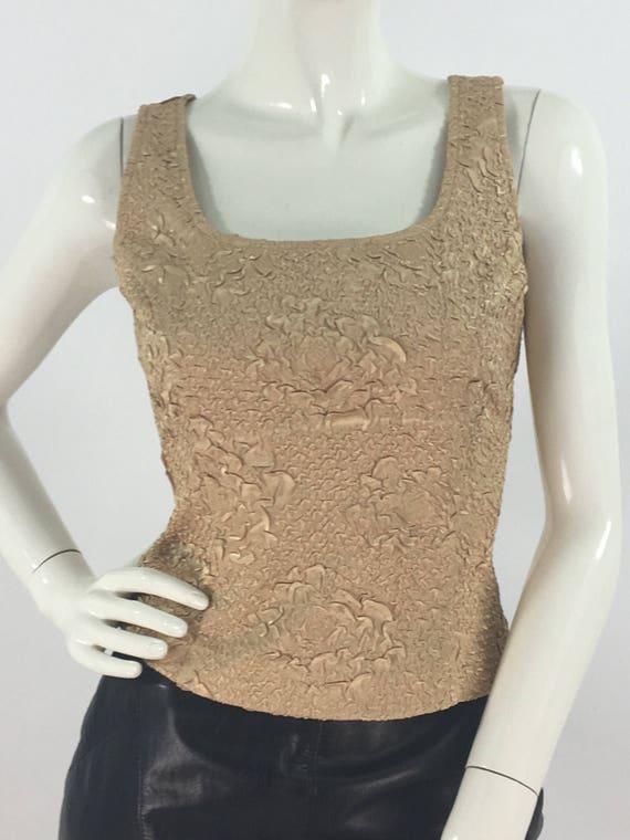 Vintage Ribkoff trends gold top side zipper