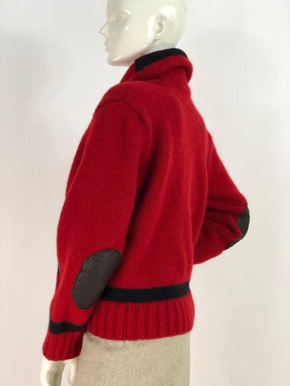 Vintage polo sweater/polo hand knit/polo 100% woo… - image 5
