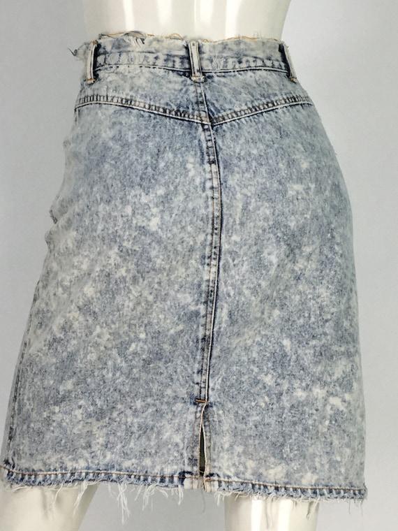 80s 90s acid wash skirt/acid wash skirt/vintage ac