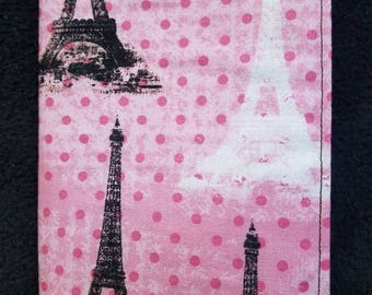 Pink Eiffel Tower passport cover