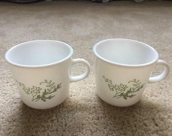 Genuine Vintage 'Floral Spray' Corning Mugs