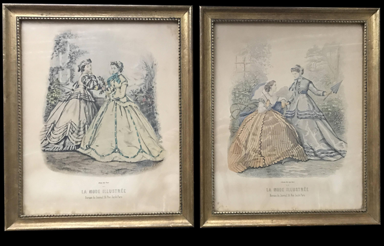 Antique french la mode illustree reville paris fashion etsy