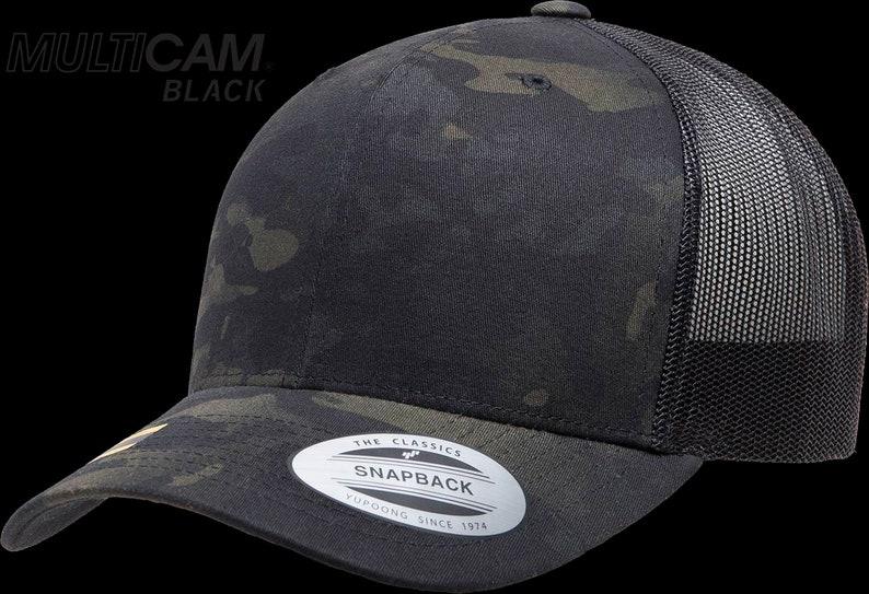 c4c68837177c1 Trucker Hat Trucker Cap Snapback Multicam Green   black camo