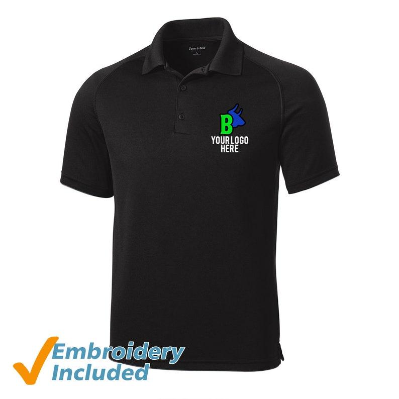 Custom Embroidered Performance Polo Shirts Free Logo Setup Etsy