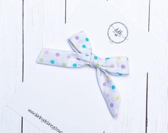 Polka dot hair bow, school girl bow, toddler hair clips, toddler hair bow, newborn hair bow, baby headband bow, pig tail clips, ribbon bow