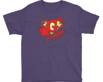 Kids Birthday Gift Letter G Name Super Hero Accessories Apparel