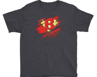 Kids Birthday Gift Letter B Name Super Hero Accessories Apparel