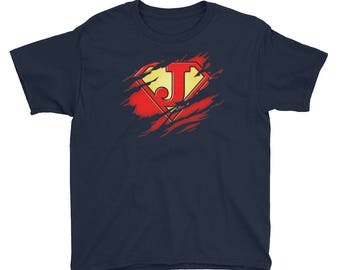 Kids Birthday Gift Letter J Name Super Hero Accessories Apparel