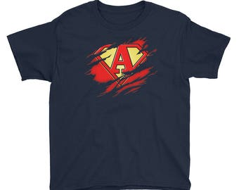 Kids Birthday Gift Letter A Name Super Hero Accessories Apparel