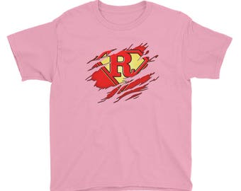 Kids Birthday Gift Letter R Name Super Hero Accessories Apparel