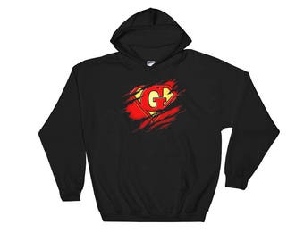 Birthday Gift Letter G Name Super Hero Accessories Apparel
