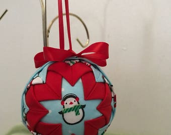 """3"""" Quilted Penguin Ornament"""