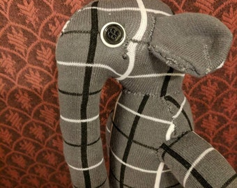 Sock Elephant--Handmade Sock Animal Elephant