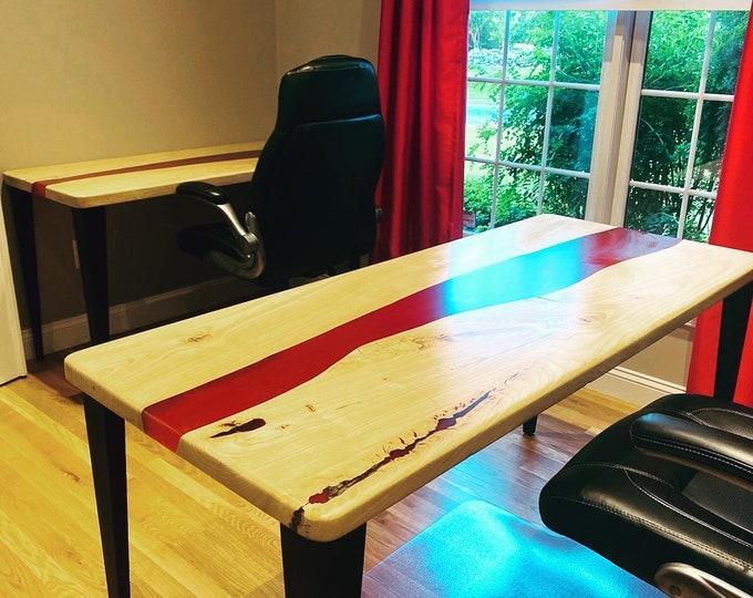 Custom Ash Red River Office Desks.