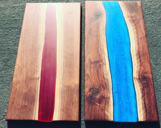 Resin River Serving Boards.