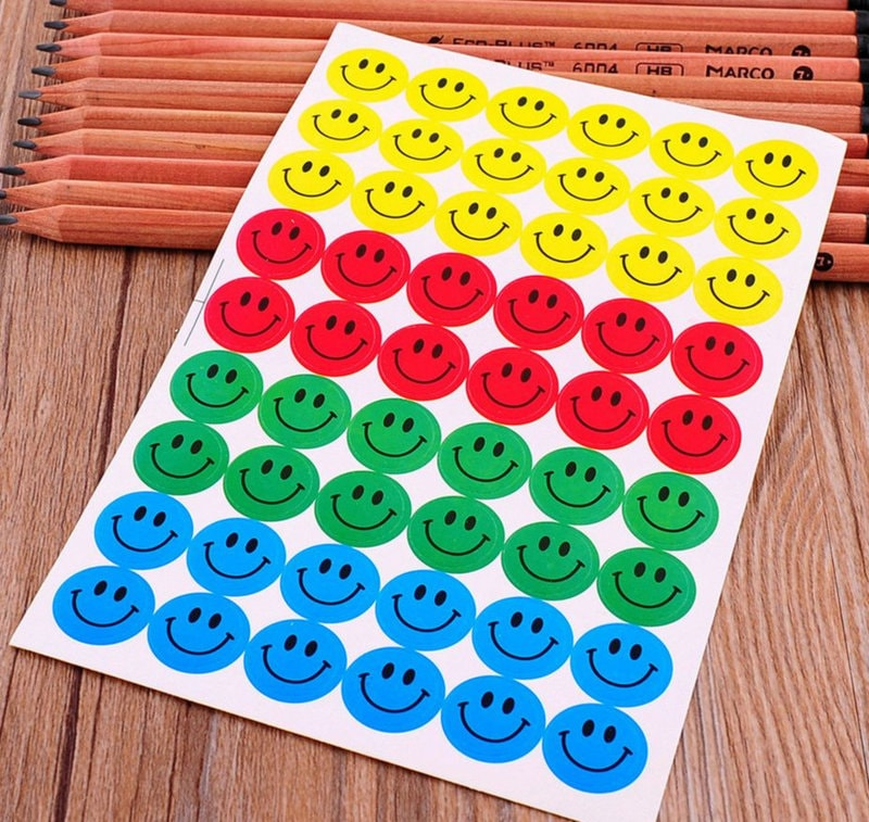 10 Sheets Smiley Stickers Multi Color