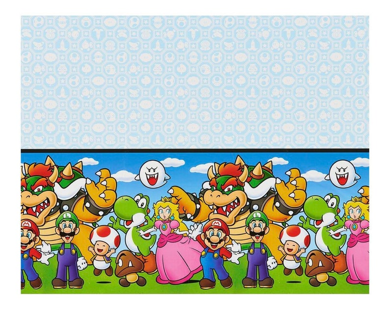 202 & Super Mario Tablecloth Mario Tablewear Mario Party supplies Super Mario Birthday Tablecloth Mario Party Decorations