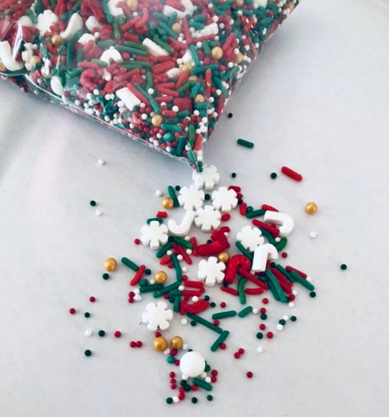 Holidays Sprinkles Christmas Sprinkles Holiday Jimmies Mixed Sprinkles Christmas Party Holiday Party Cupcake Sprinkles