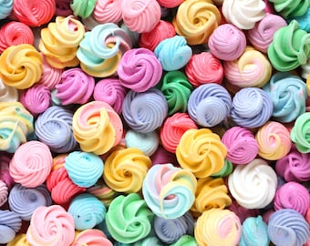 Multicolor Meringue Cookies - Pastel - Rainbow - Cookies - Shower - Party Favor - Gift - Thank You - Birthday - Summer