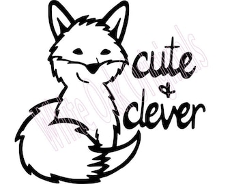Cute & Clever Fox svg