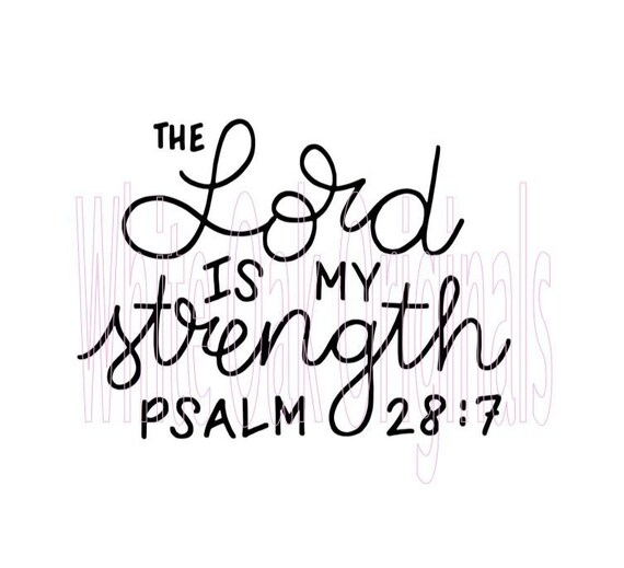 View The Lord Is My Strength And My Song Svg DXF