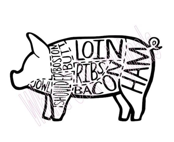 Pork Butcher Chart   EtsyEtsy