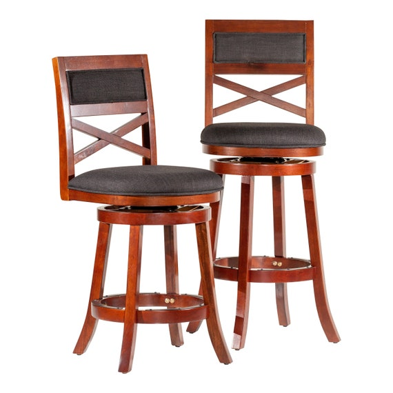 Excellent Dty Indoor Living Meeker X Back Upholstered Swivel Stool 30 Bar Stool Or 24 Counter Stool Ibusinesslaw Wood Chair Design Ideas Ibusinesslaworg