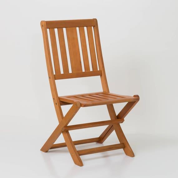 Armless Folding Chair Dty Outdoor Living Eucalyptus Patio