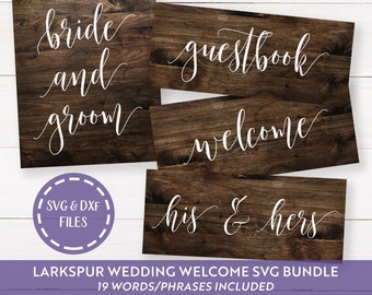 Wedding SVG Bundle, Wedding Welcome SVGs, Guestbook svg, Bride and Groom SVG, His and Her svg, Mr. and Mrs. svg, We Do svg, Commercial Use