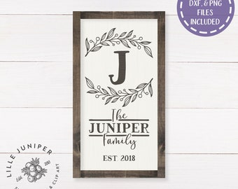 Family Name svg, Monogram SVG, Last Name svg, Farmhouse Sign svg, Rustic Sign svg, Commercial Use, Farmhouse Decor, Digital File