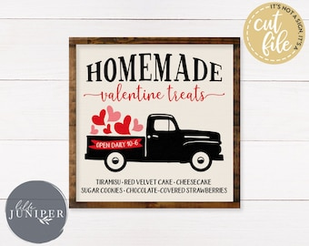 Valentine's Day svg, Vintage Truck svg, Heart svg, Farmhouse svg, Homemade Valentine svg, Commercial Use, Instant Download