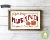 SVG Files, Pumpkin Patch SVG, Fall svg, Autumn Sign svg, SVGs for Signs, Cutting Files, Cricut, Silhouette, Commercial Use, Digital File