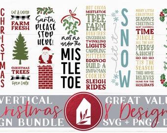 Christmas Porch Sign SVG Bundle, Christmas SVG Bundle, Christmas Welcome, Christmas Sign Designs, SVG Bundles, Digital Cut Files