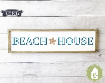 Beach House svg, Starfish svg, Summer svg, SVG Files, Cutting Files, Rustic svg, Commercial Use, Digital File