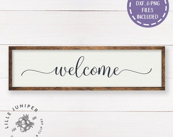 Welcome SVG Kitchen svg Home svg Modern Farmhouse Sign svg Fixer Upper Style DIY Sign SVGs for Signs Stencil Commercial Use Digital File