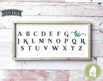 Alphabet SVG, Kids Room svg, Farmhouse Nursery, SVG Files, Hi svg, Baby svg, Cutting Files, Commercial Use, Instant Download
