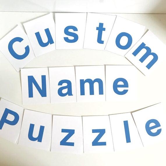 Nom personnalisé imprimable Puzzle