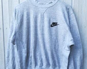 Rare! Vintage Nike Gray Tag Small Logo Sweatshirt Jumper Sweater Size M
