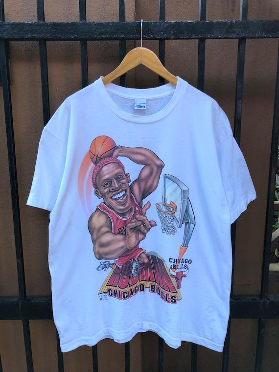 Rare Vintage Chicago Bulls Dennis Rodman Tee XL Si