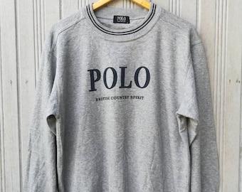 Vintage POLO British Country Spirit Sweatshirt Size M